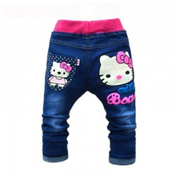 Pantalon Hello Kitty jean de 2 à 6 ans
