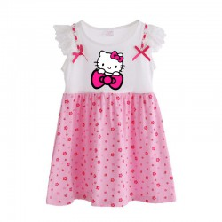 Robe fleurie Hallo kitty de 1 à 10 ans