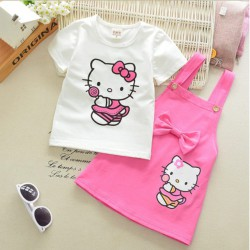 Ensemble Hello Kitty coton rose bonbon
