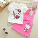 Ensemble Hello Kitty coton rose bonbon