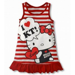 Robe coton Hello Kitty chic 2 à 6 ans
