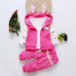 Ensemble 3pcs Hello Kitty style lapin 2 à 4ans