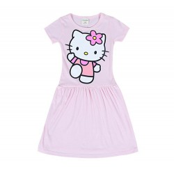 Robe nuisette rose bonbon Hello Kitty de 3 à 9 ans
