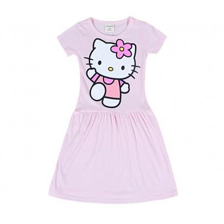 Robe nuisette rose bonbon Hello Kitty de 3 à 9 ans