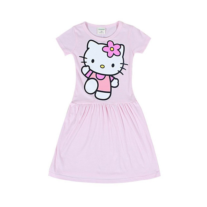 Robe nuisette rose hello kitty fille 3 9 ans qualit pas cher - Robe de chambre hello kitty ...