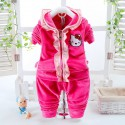 Ensemble survêtement Hello Kitty rose flashy de 0 à 4 ans