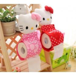 Range papier toilette peluche en tissu Hello Kitty