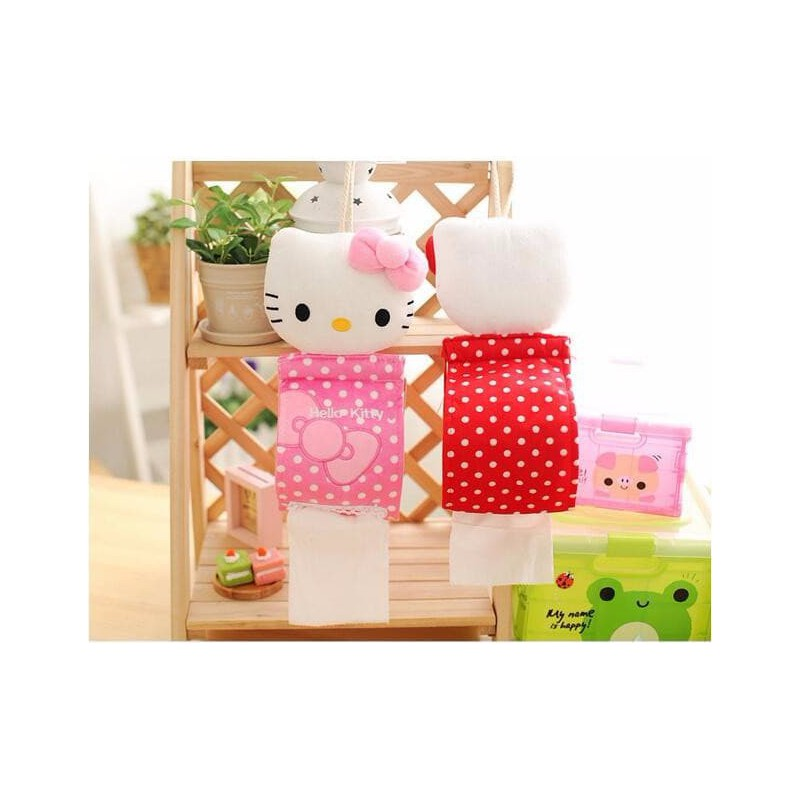 range papier toilette tr s fun en tissu avec t te peluche hello kitty. Black Bedroom Furniture Sets. Home Design Ideas