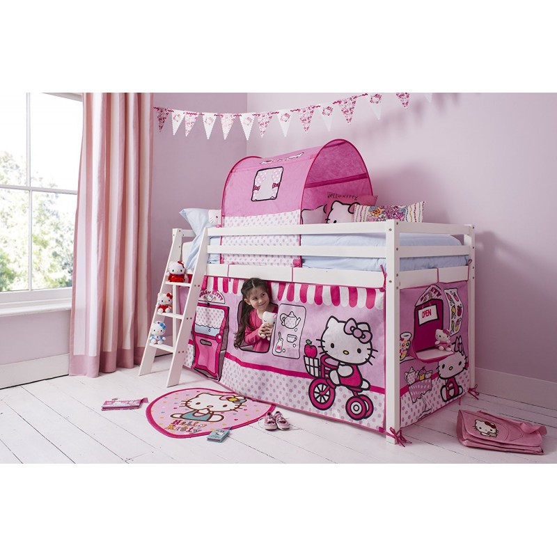 lit mezzanine haute qualit hello kitty chambre enfant chic pas cher. Black Bedroom Furniture Sets. Home Design Ideas