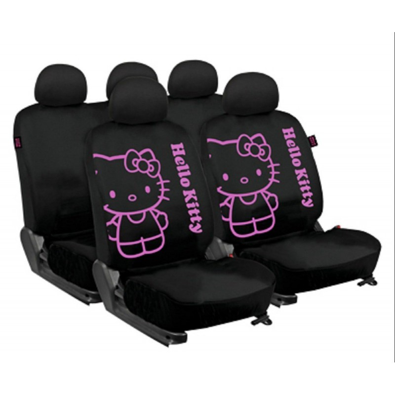 set complet housse voiture hello kitty qualiter pas cher. Black Bedroom Furniture Sets. Home Design Ideas