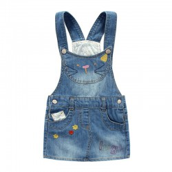 Robe hello kitty en jean pour fille