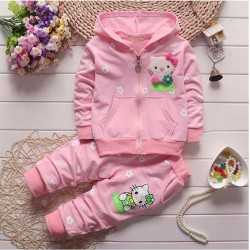 Ensemble Hello Kitty typer marin pour fille de 1 à 4 ans