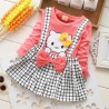 Robe style ecossais pour fille de 4 à 6ans Hello Kitty