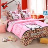 Hello kitty ensembles de literie avec housse de couette, drap de lit et  taie d'oreiller