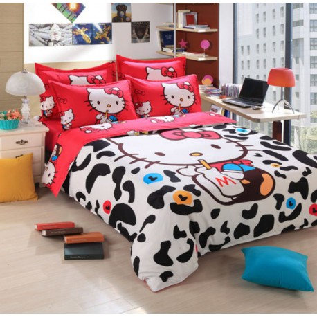 Darp House Hello Kitty Housse Couette Fille Taie Oreille Pas Cher