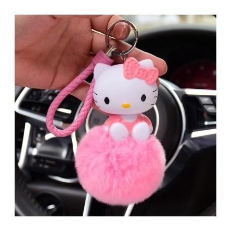 Porte clé Ponpon Hello Kitty