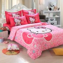 Hello kitty rose papillon ensembles de literie