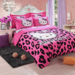 Hello kitty leopard ensembles de literie