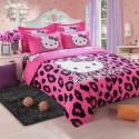 Hello kitty leopard ensembles de literie
