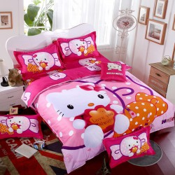 Hello kitty love you always ensembles de literie